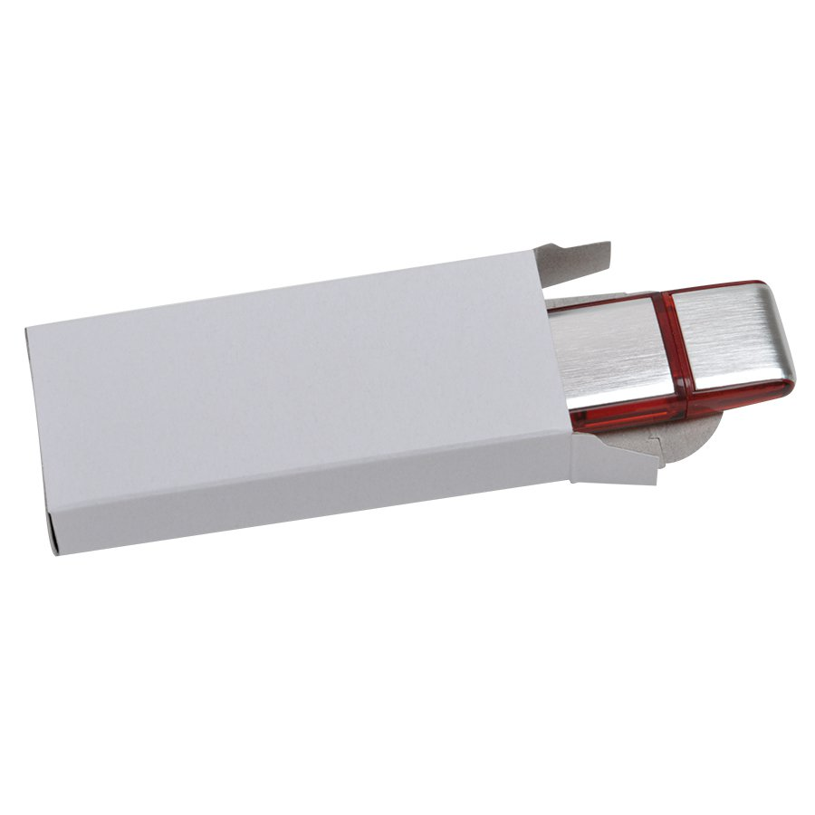 Коробка под USB flash-карту, 8х3,5х1,5см, картон, шелкография