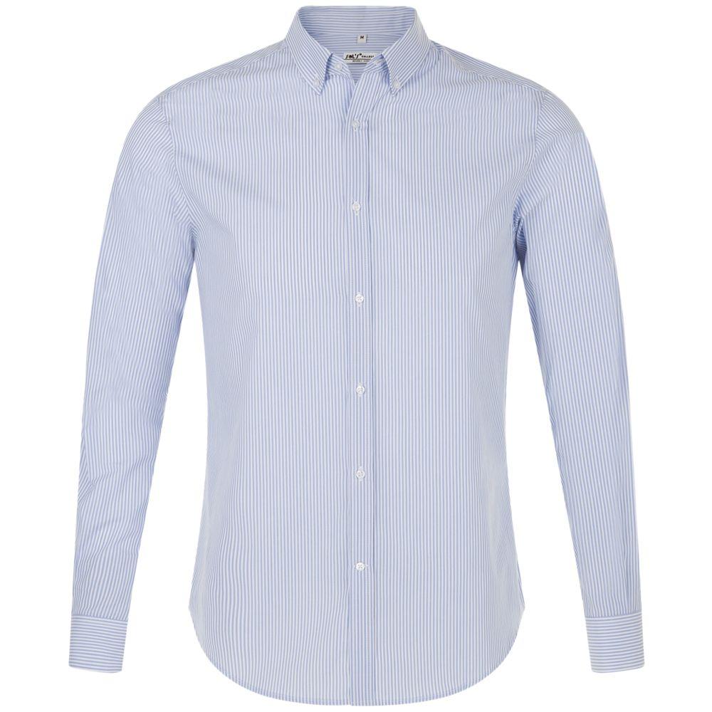 158a9bc291862b3 Рубашка мужская BEVERLY MEN, белая с синим, фирмы «Sols» - P01650504 ...