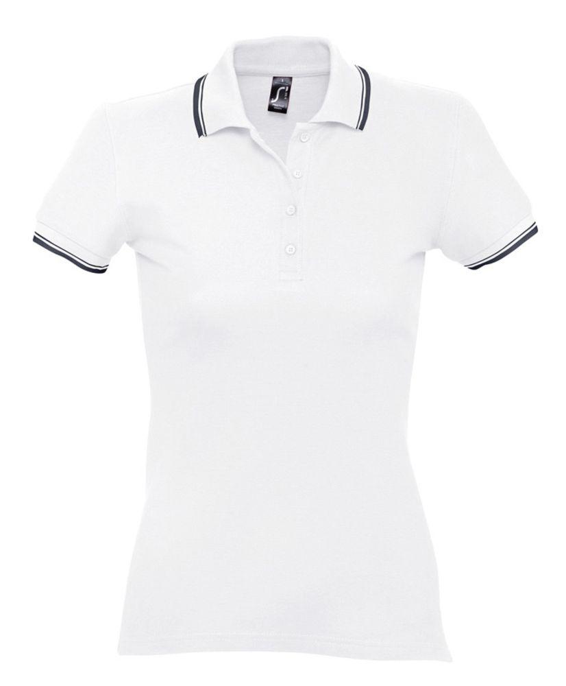 ed861a93b1fc Рубашка поло женская Practice Women 270, белая с темно-синим
