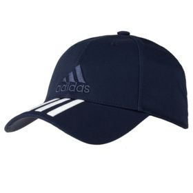 P3492.40 - Бейсболка Six-panel Classic 3 stripes, темно-синяя