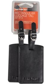 PU23-09205 - Набор из 2 бирок Luggage Accessories, черный